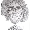 curly man caricature