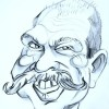 elderly caricature