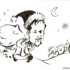 new year greeting card caricature