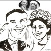 wedding caricature