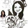 christmas pet caricature