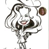 cowgirl custom caricature