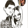 engagement custom caricature