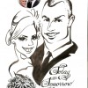 wedding caricature card