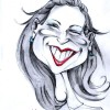 funny lady caricature