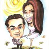 engaged caricature