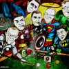 superheroes caricature