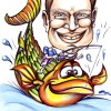 Big fish caricature