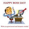 Boss Day Greeting cartoon Male