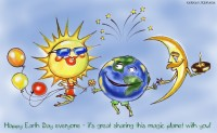 Earth Day Caricature