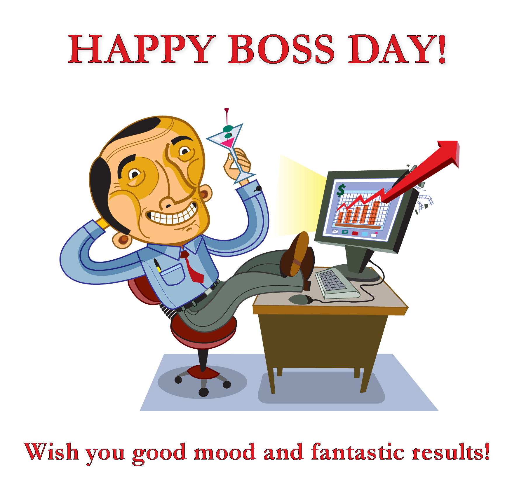 Boss Day Greetings cartoon