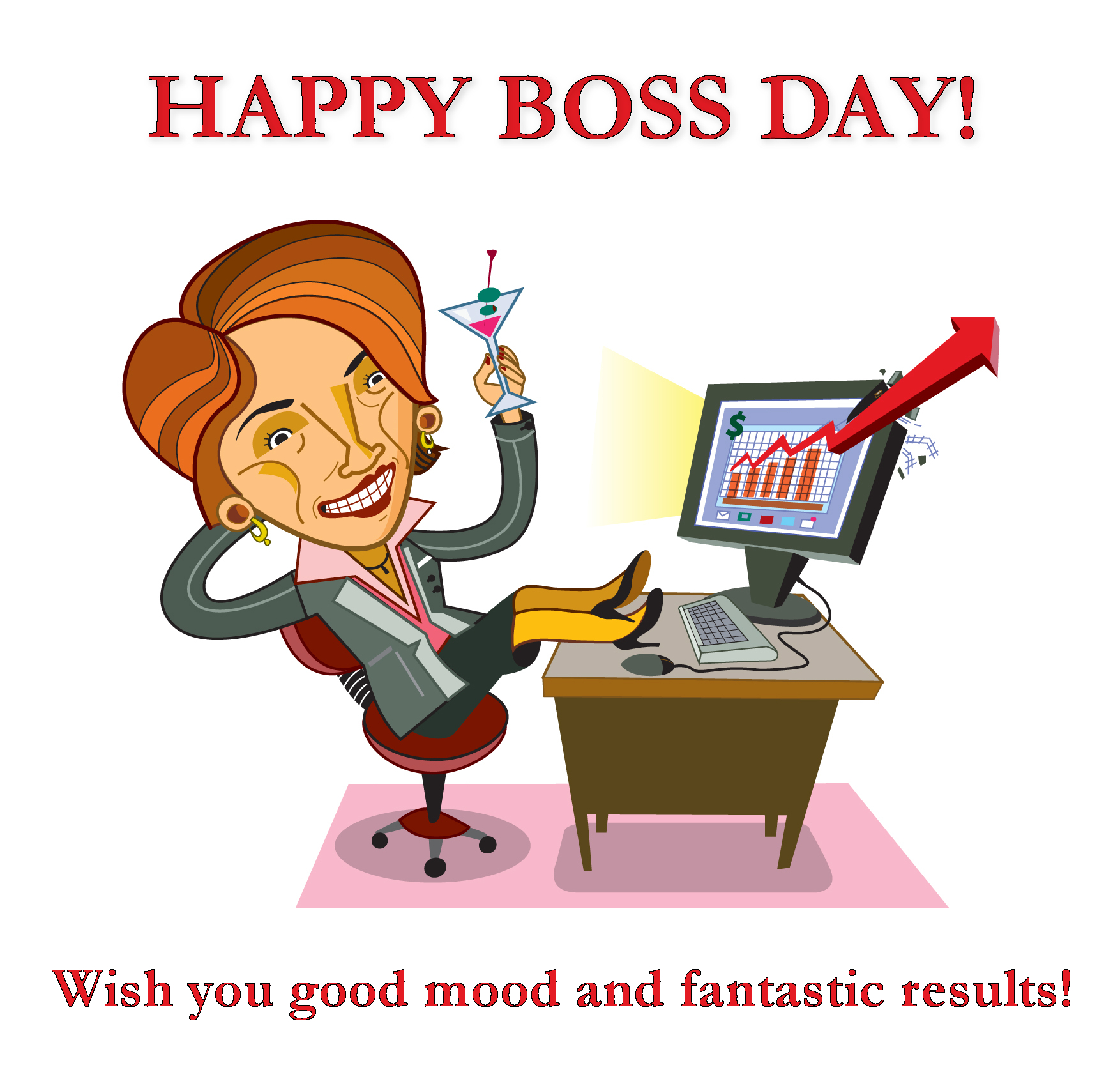 Boss day greetings cartoon female karikatures boss day greetings cartoon female m4hsunfo
